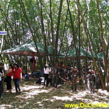 Lớp huấn luyện kỹ năng quân đội tại KDL Sinh Thái Nhân Tâm